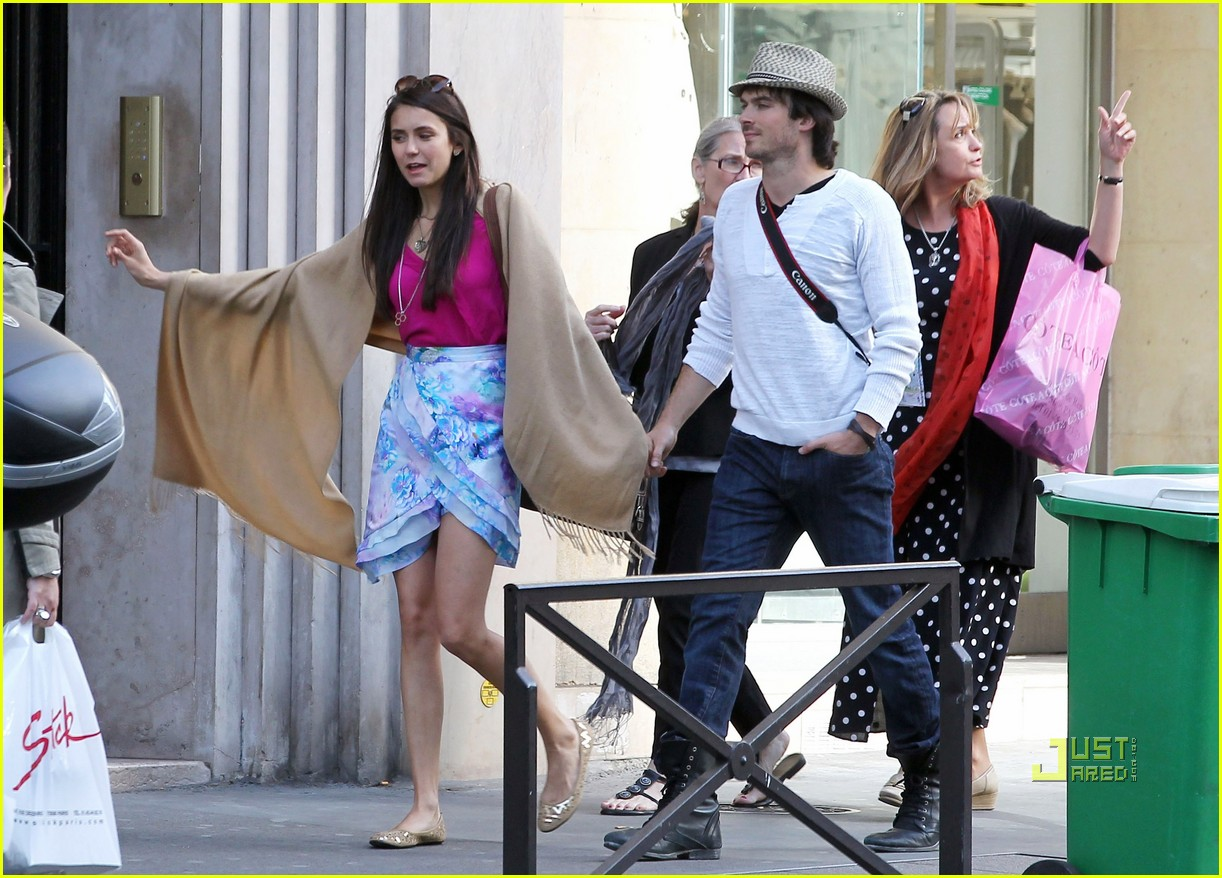 ian somerhalder nina dobrev paris 09