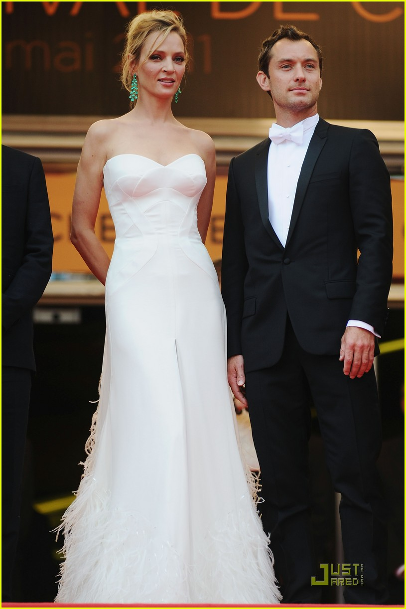 jude law cannes opening ceremony with uma thurman 012543000
