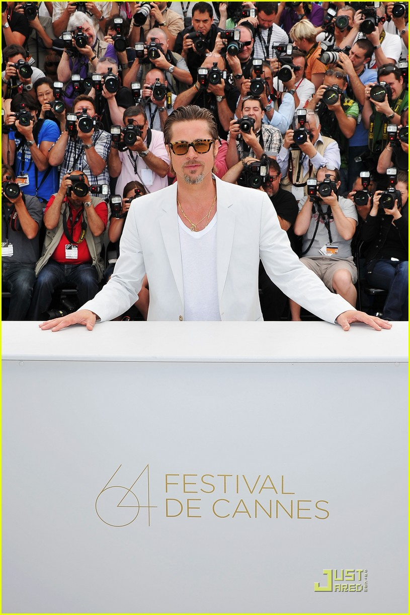 brad pitt cannes tree of life 36