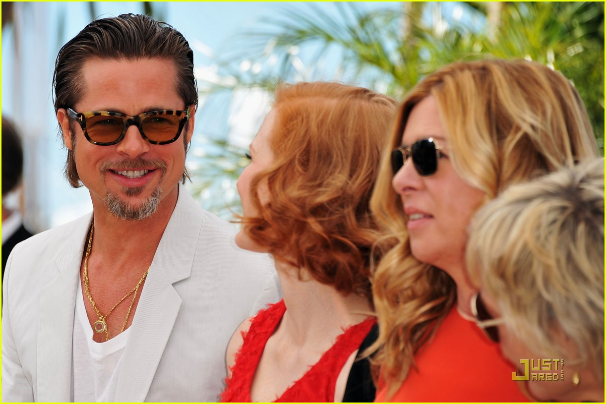brad pitt cannes tree of life 45