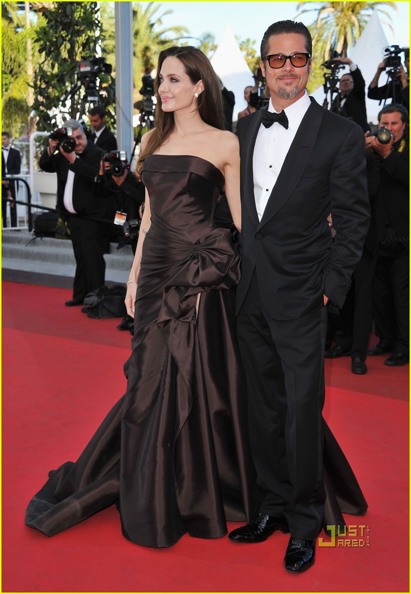 brad pitt angelina jolie tree of life premiere 15