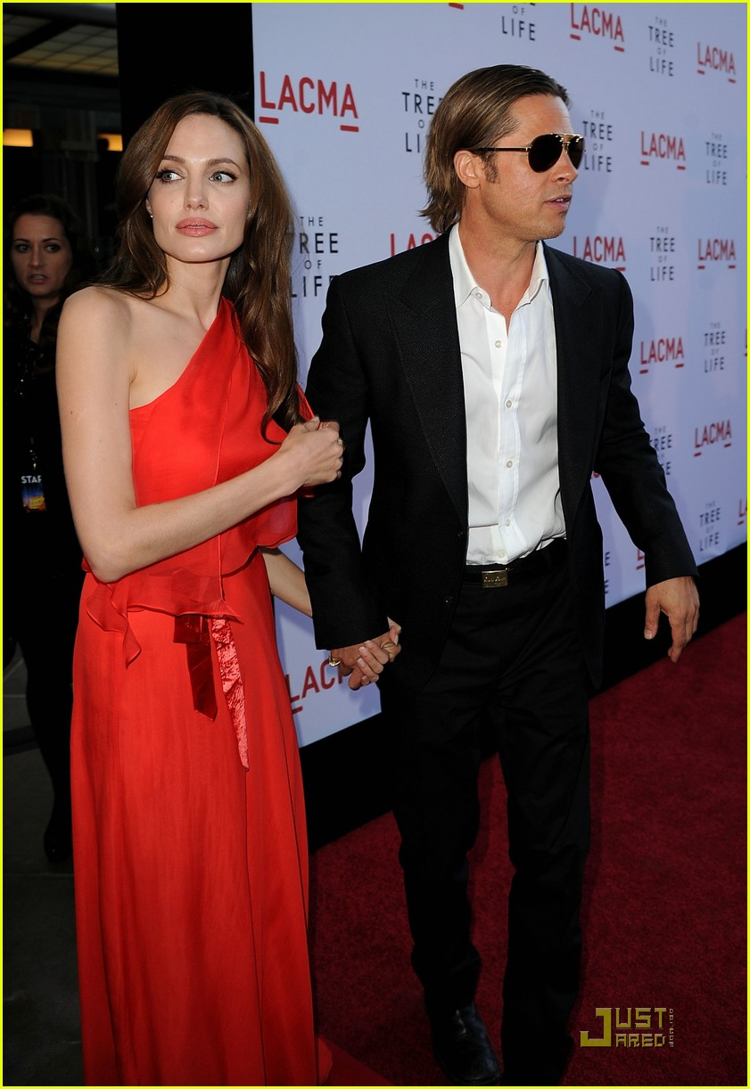 angelina jolie brad pitt tree life screening 12