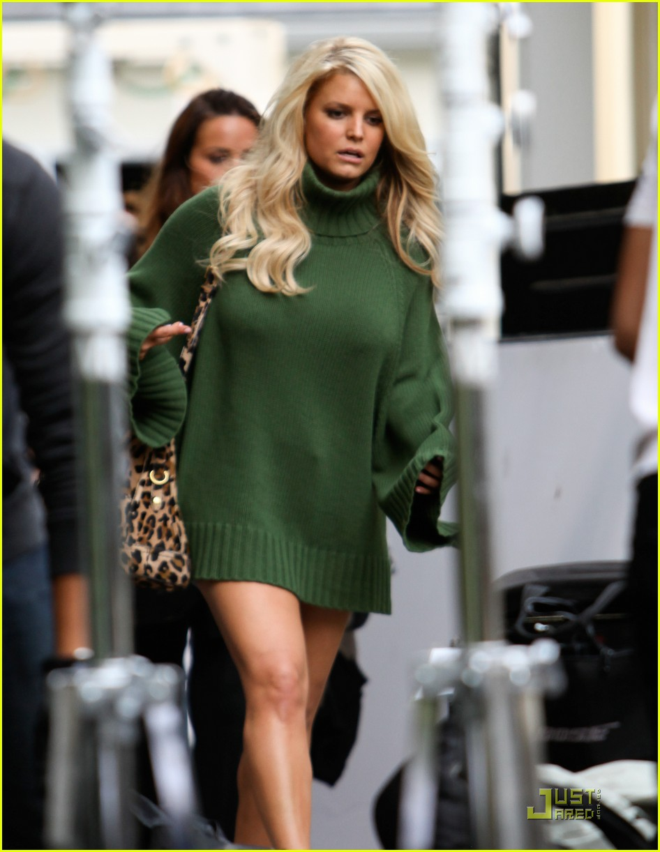 jessica simpson family visit at photo shoot 08
