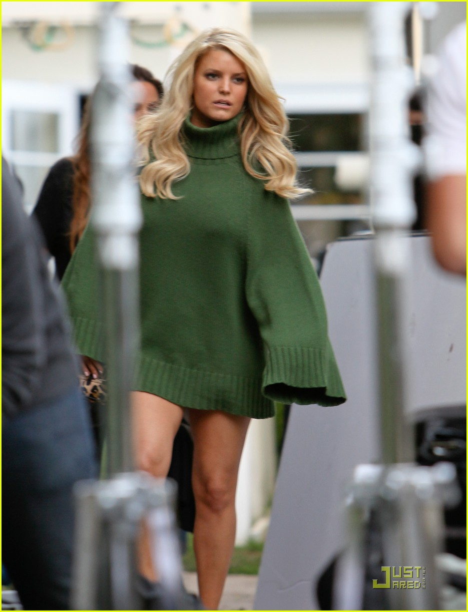 jessica simpson family visit at photo shoot 09