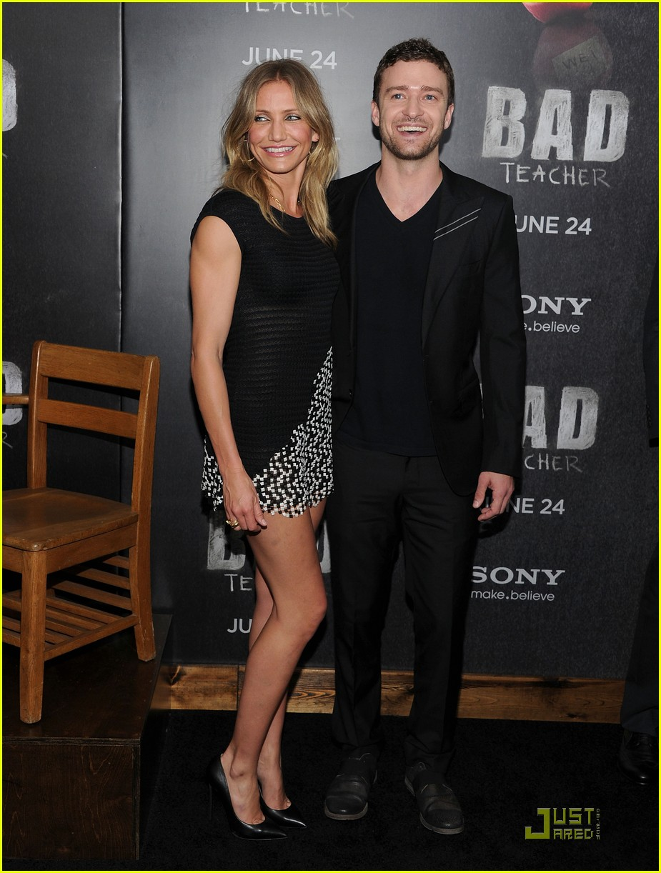 cameron diaz justin timberlake bad teacher premiere 09