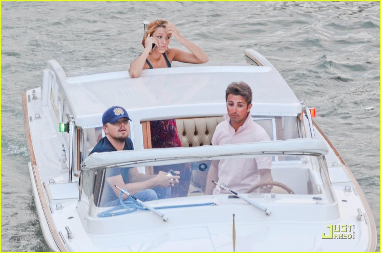 Leonardo Dicaprio Blake Lively Water Taxi Twosome Photo 2549019