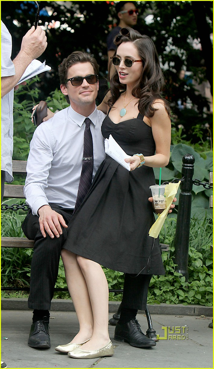 eliza dushku matt bomer white collar set 022551741