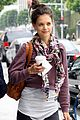 katie holmes cropped sweatshirt workout 04