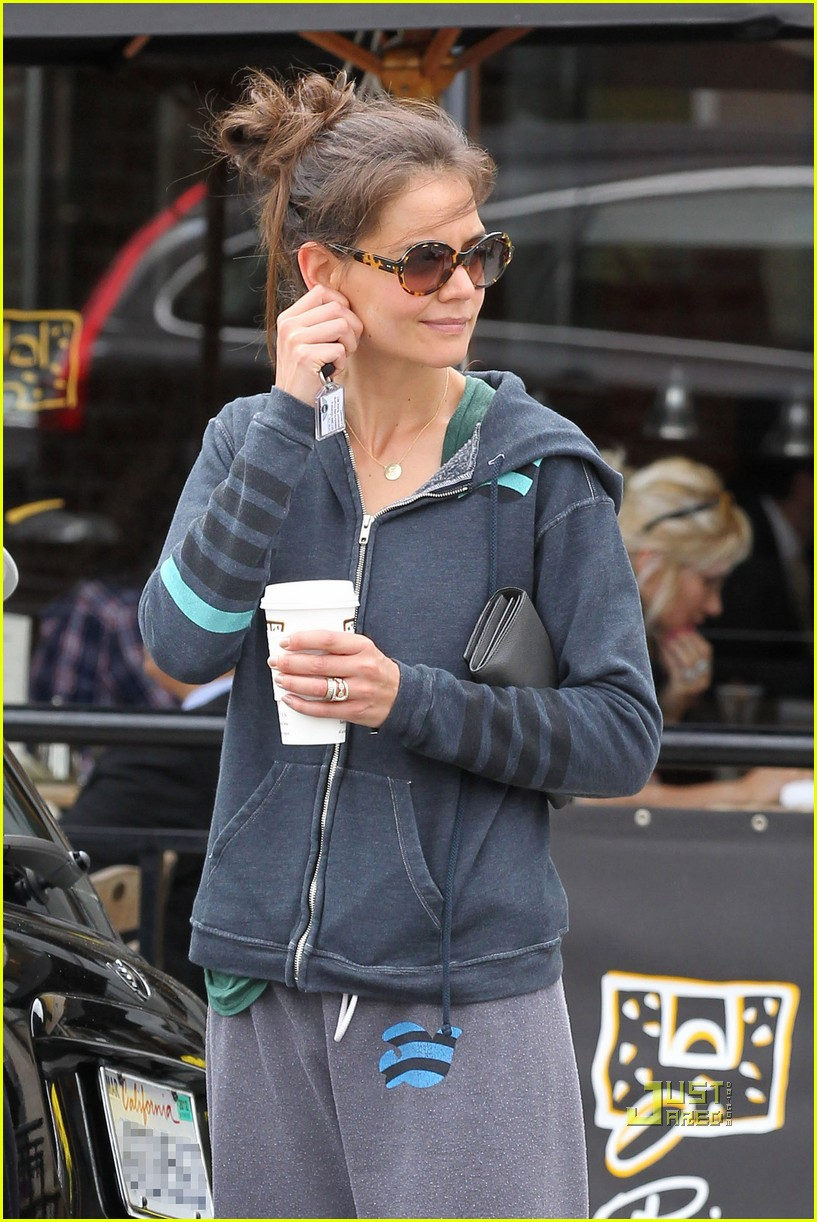 katie holmes sweats coffee free city 032550022