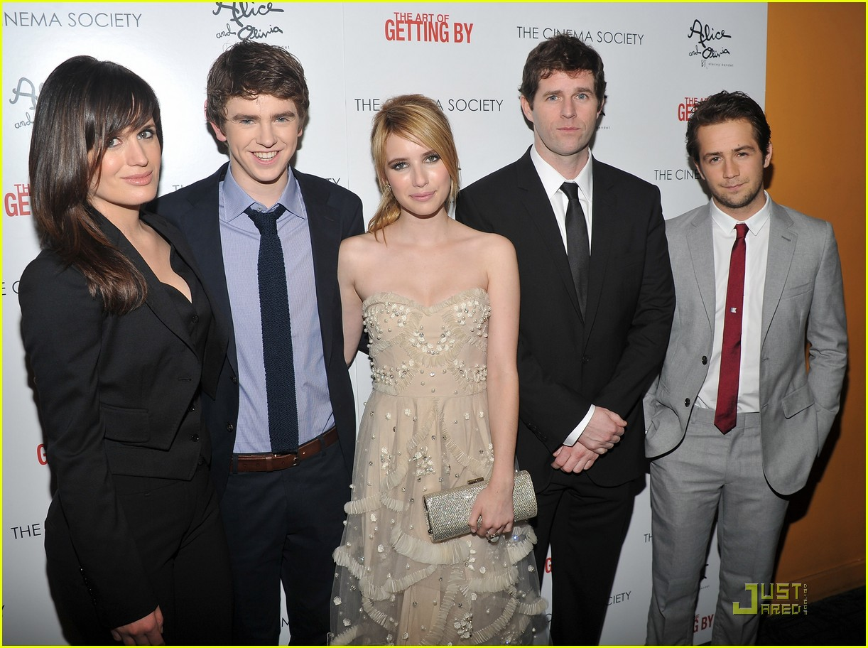 emma roberts freddie highmore art getting by screening 112552168