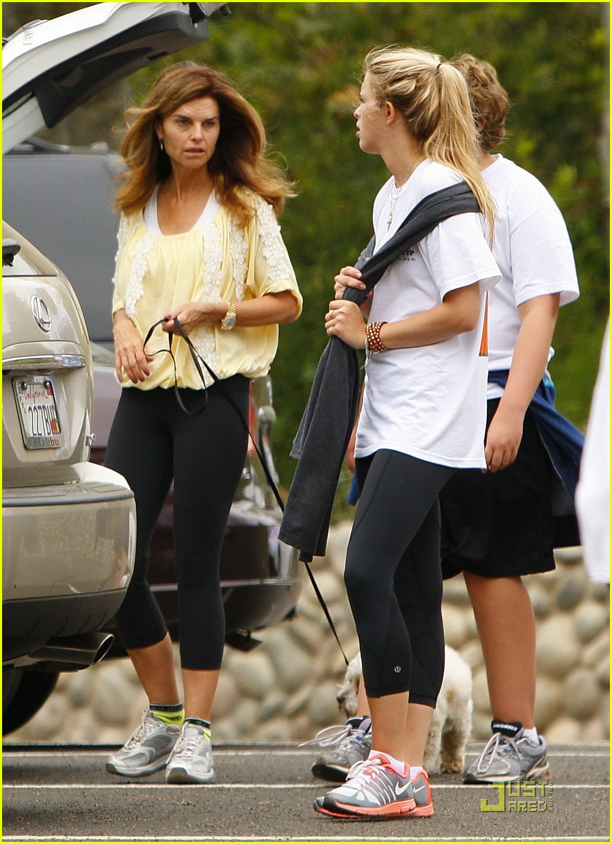 maria shriver hikes arnold patrick schwarzenegger lunch 042551617