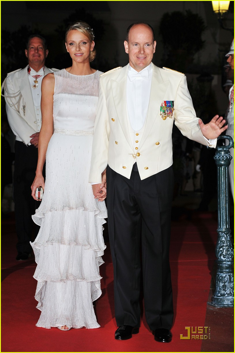 prince albert princess charlene wedding dinner fireworks 012557278