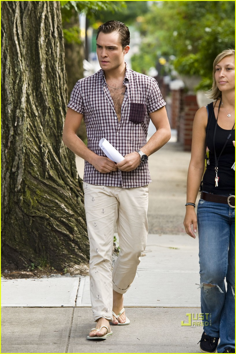 ed westwick penn badgley gossip girl 182560896