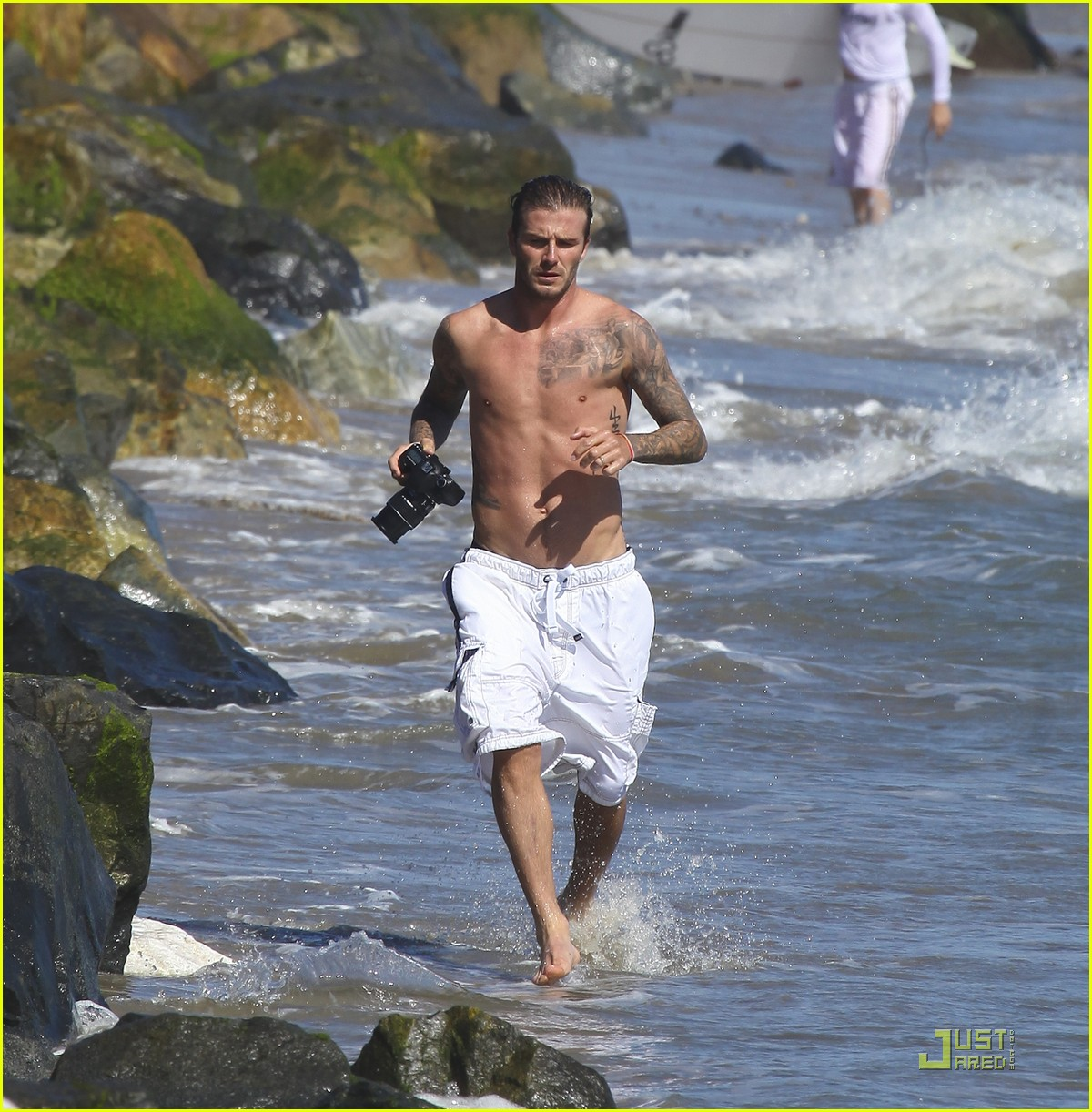 david beckham shirtless surfing  28