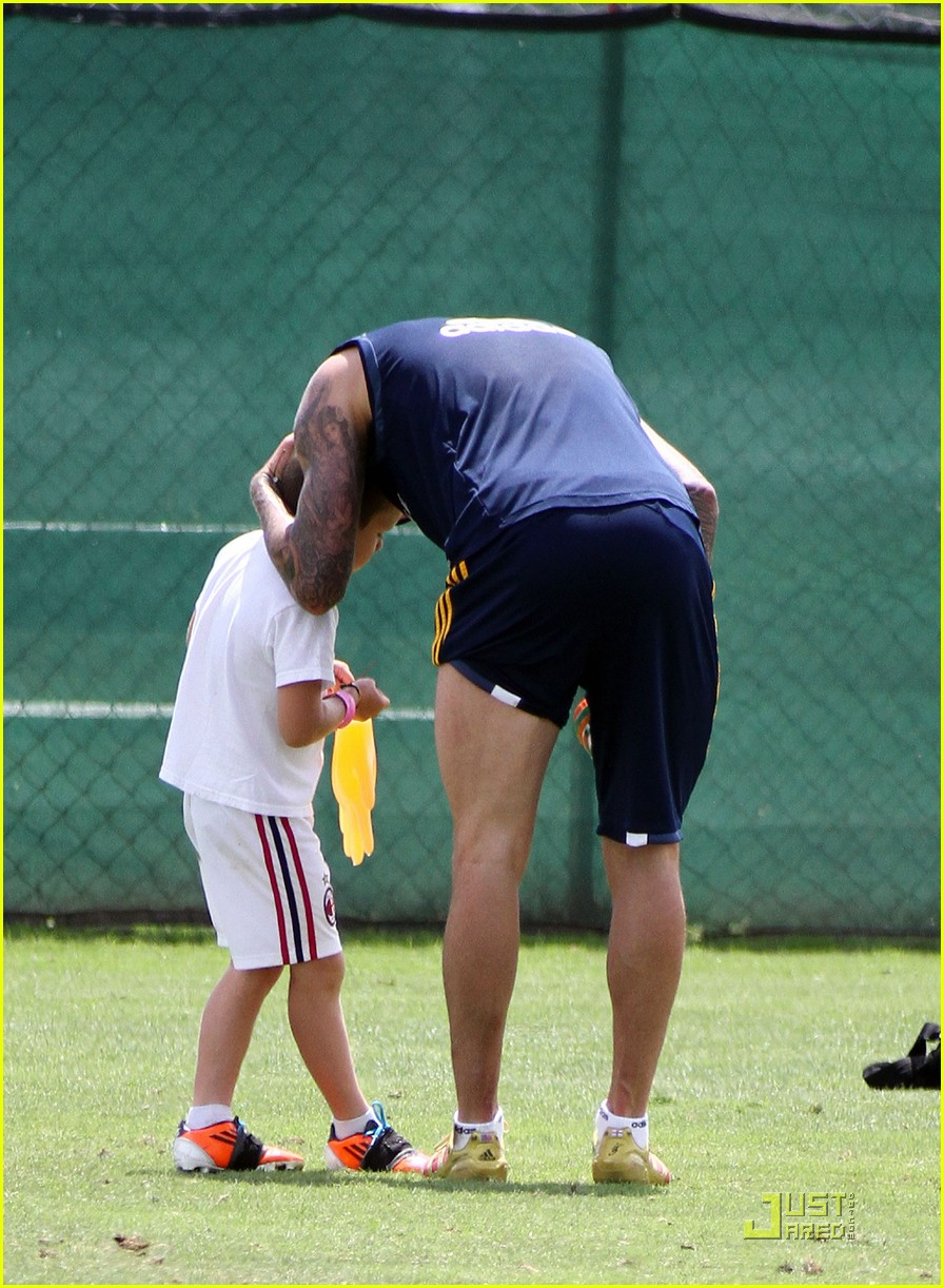 david beckham romeo cruz training 142561233