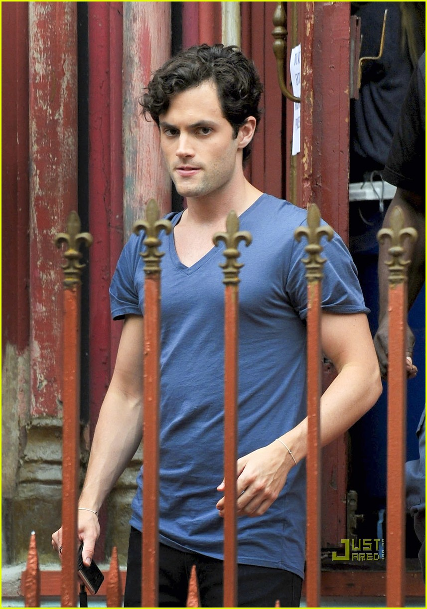 leighton meester penn badgley gossip girl set 03