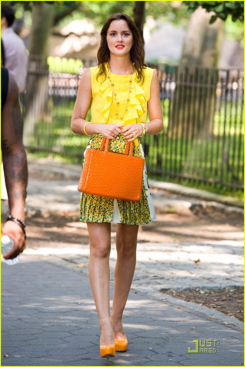 leighton meester yellow gossip girl 012558495