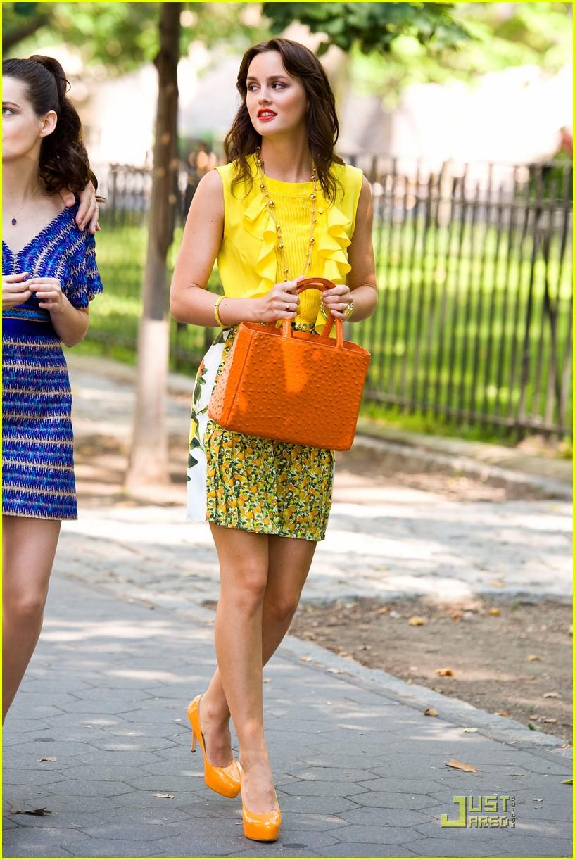 leighton meester yellow gossip girl 072558501