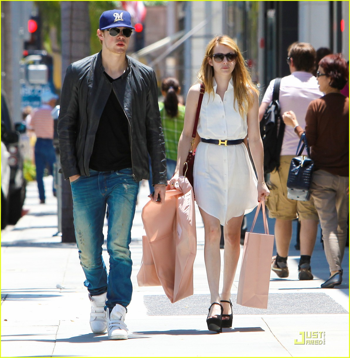 chord overstreet emma roberts beverly hills shoppers 012561109