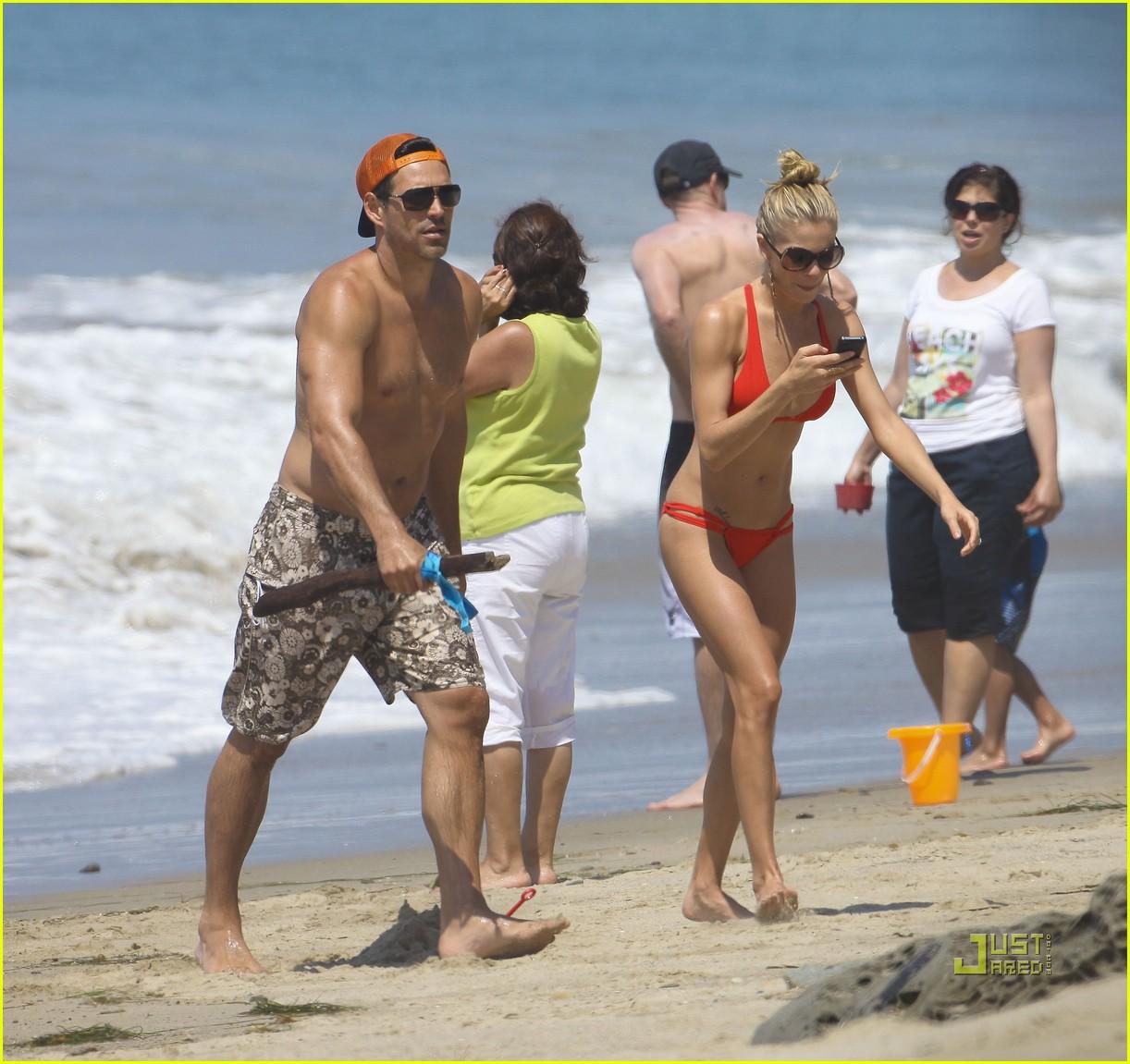 leann rimes bikini eddie cibrian shirtless malibu beach 182557881