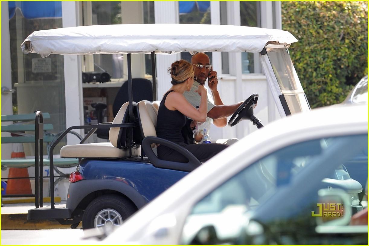 jennifer aniston golf cart 082574965