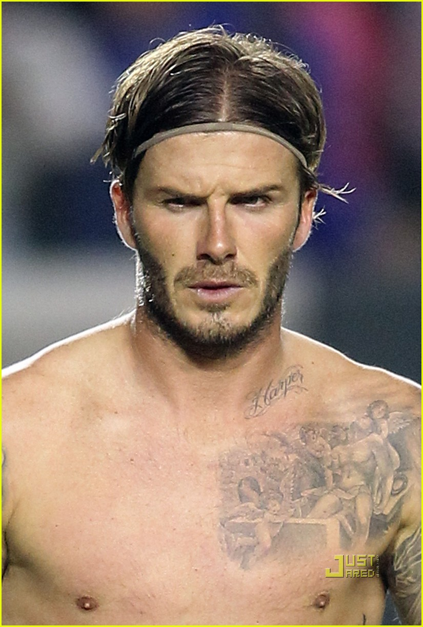 david beckham harper tattoo shirtless 032567747