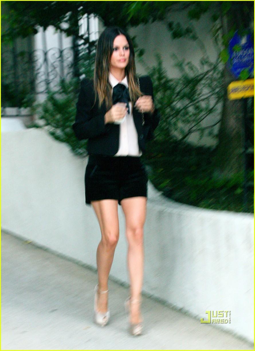 rachel bilson blazer shorts limo 01