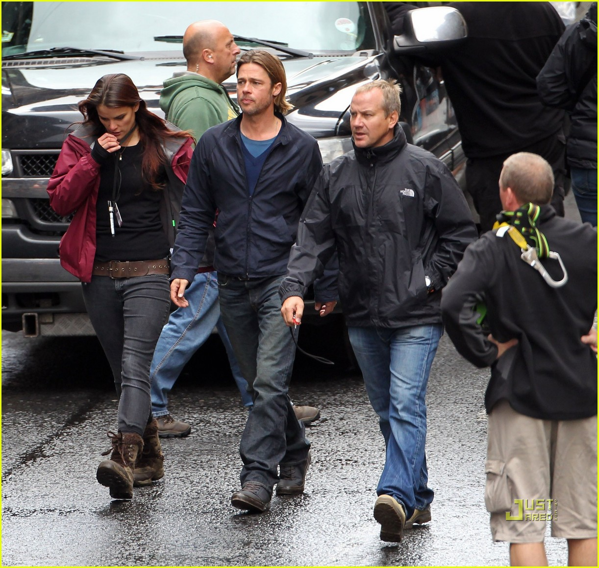 brad pitt world war z glasgow set 01