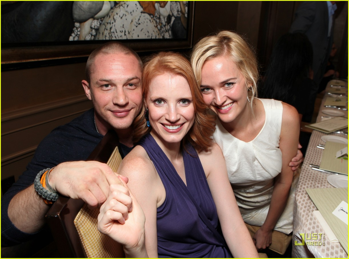 jessica chastain warrior party with tom hardy 04