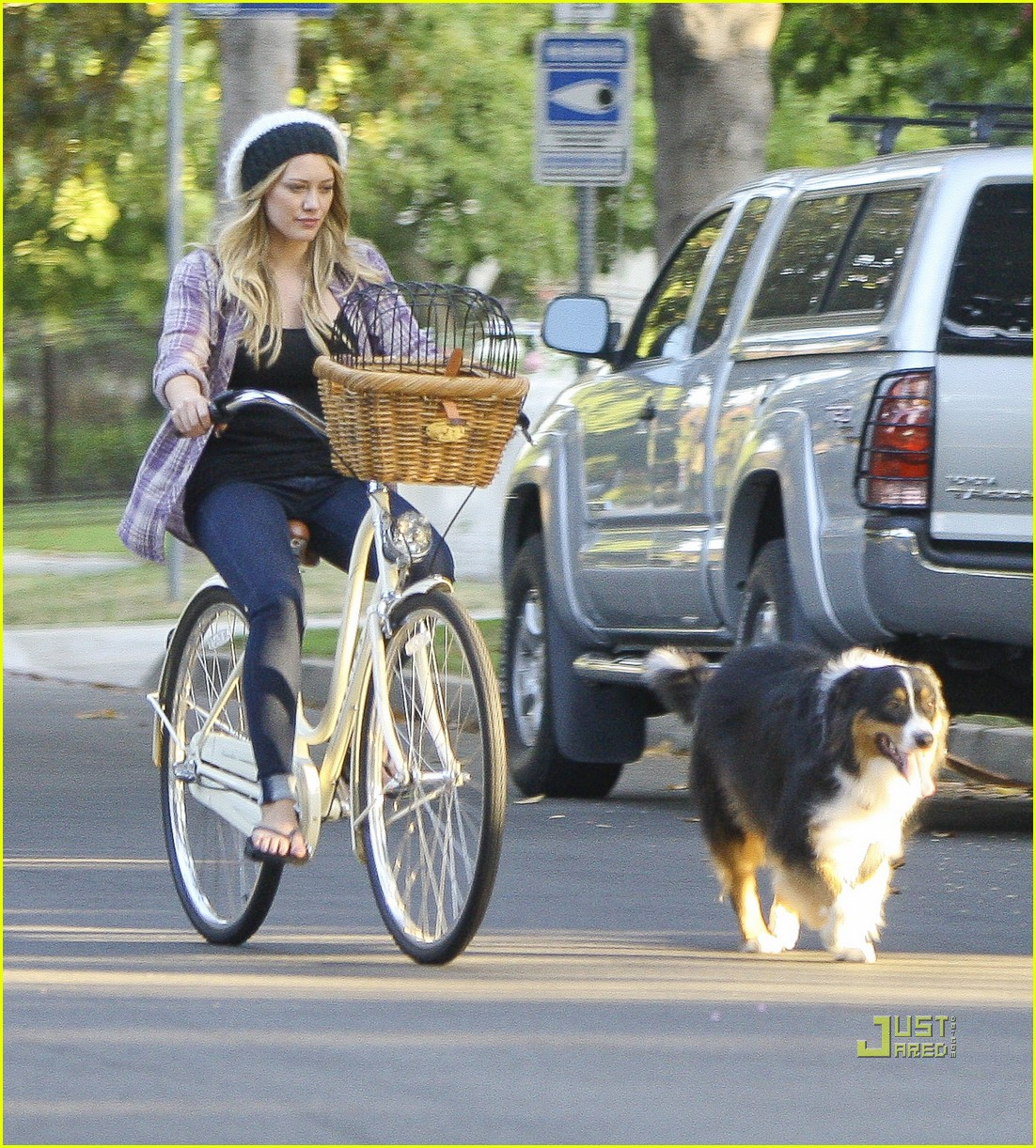 hilary duff bike 12