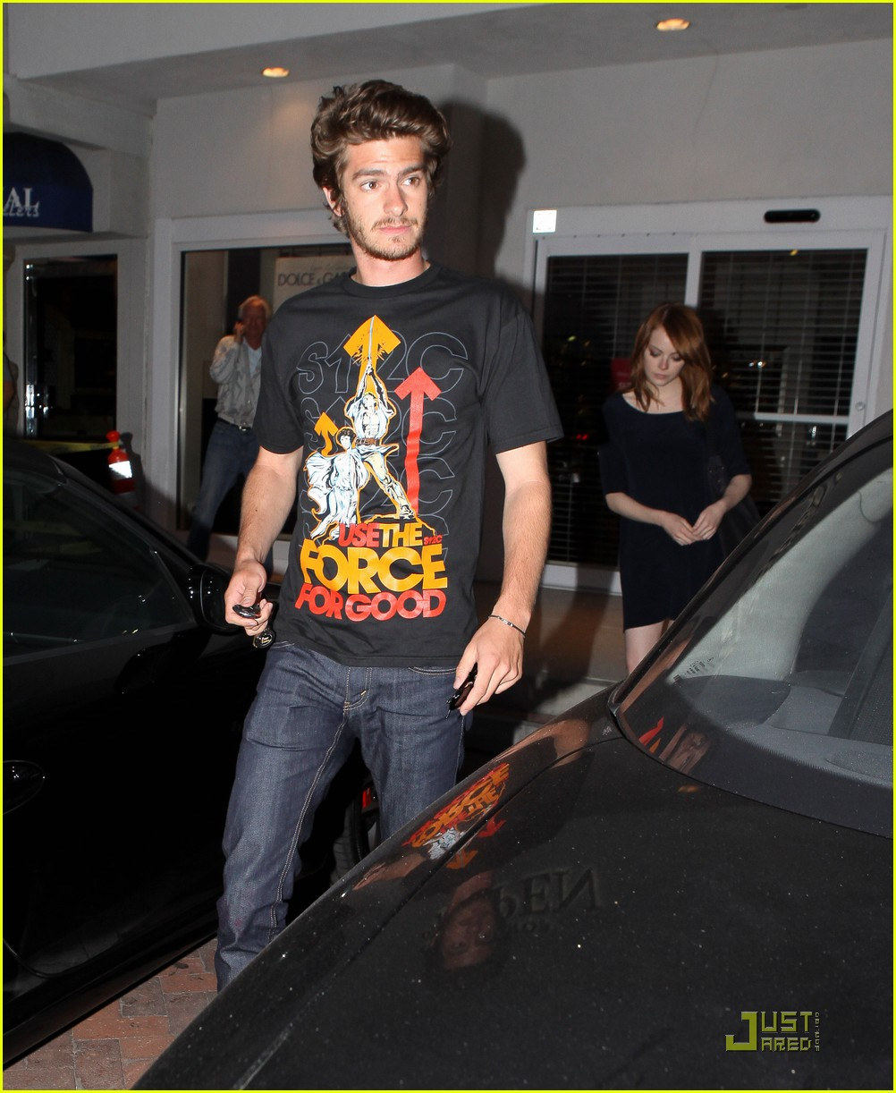 andrew garfield emma stone nobu 03