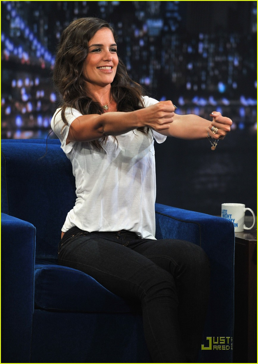 katie holmes jimmy fallon 09
