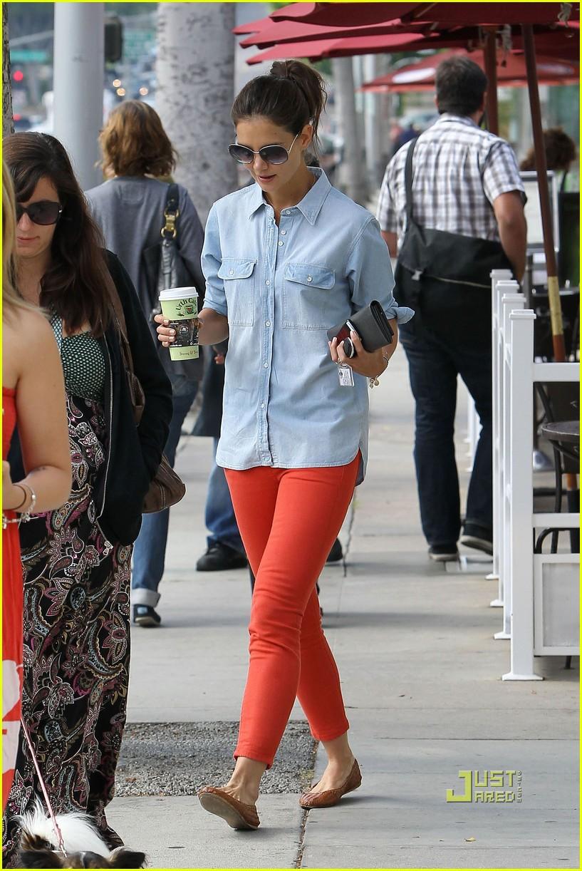 katie holmes orange pants 102572419
