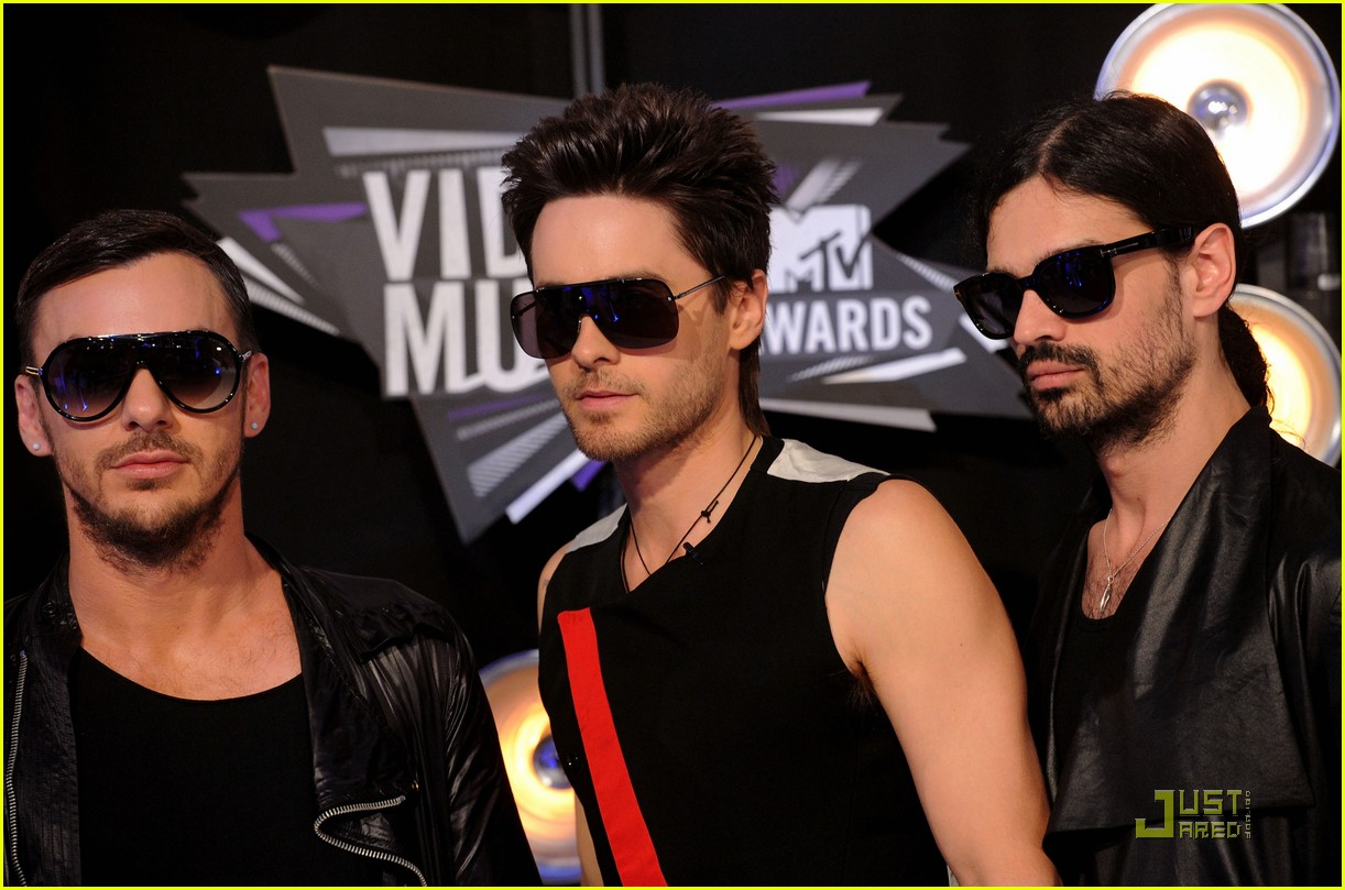 jared leto mtv vmas 2011 with 30 seconds to mars 07