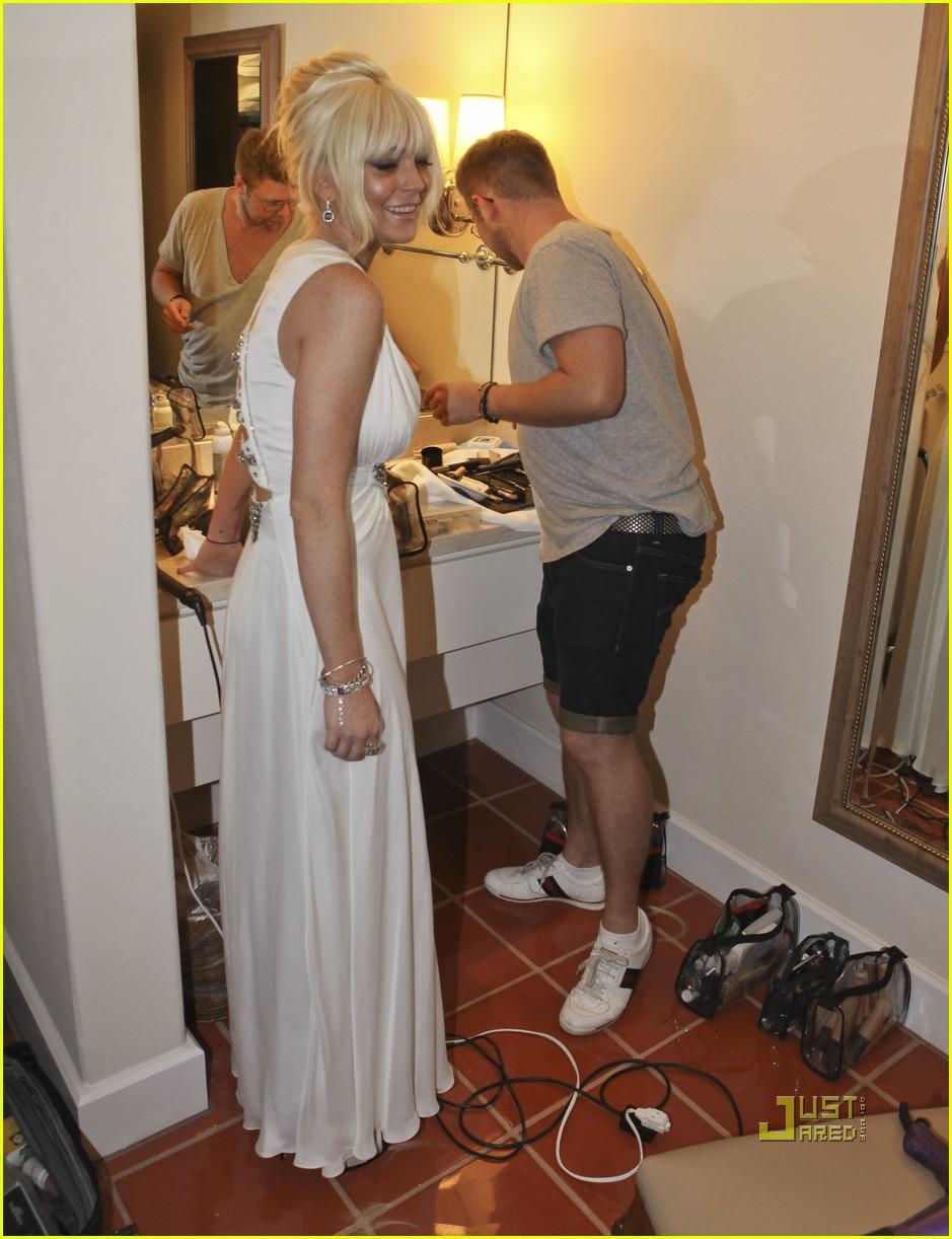 lindsay lohan dina kim kardashian wedding 112572028