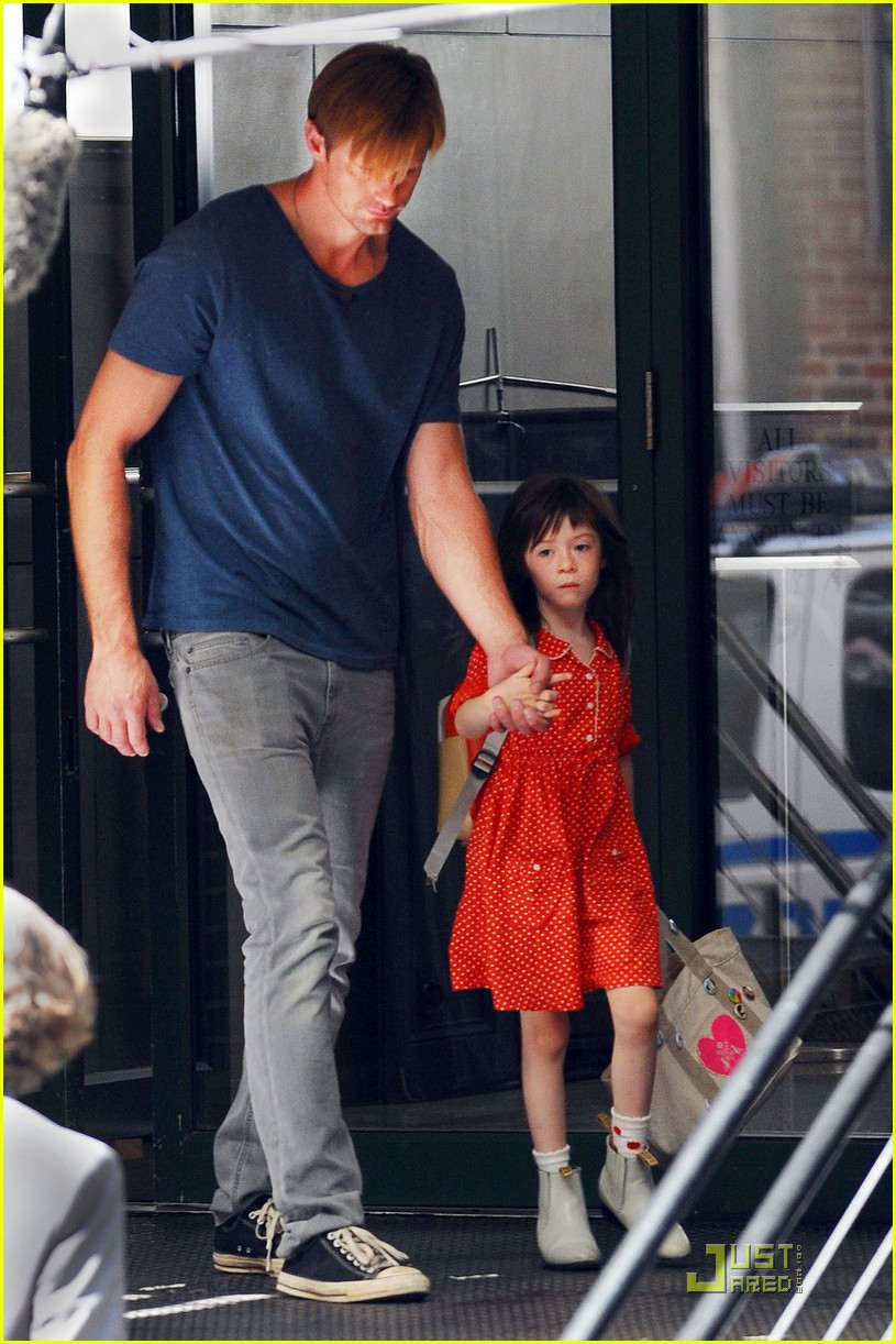 alexander skarsgard carries maisie young costar 052575082