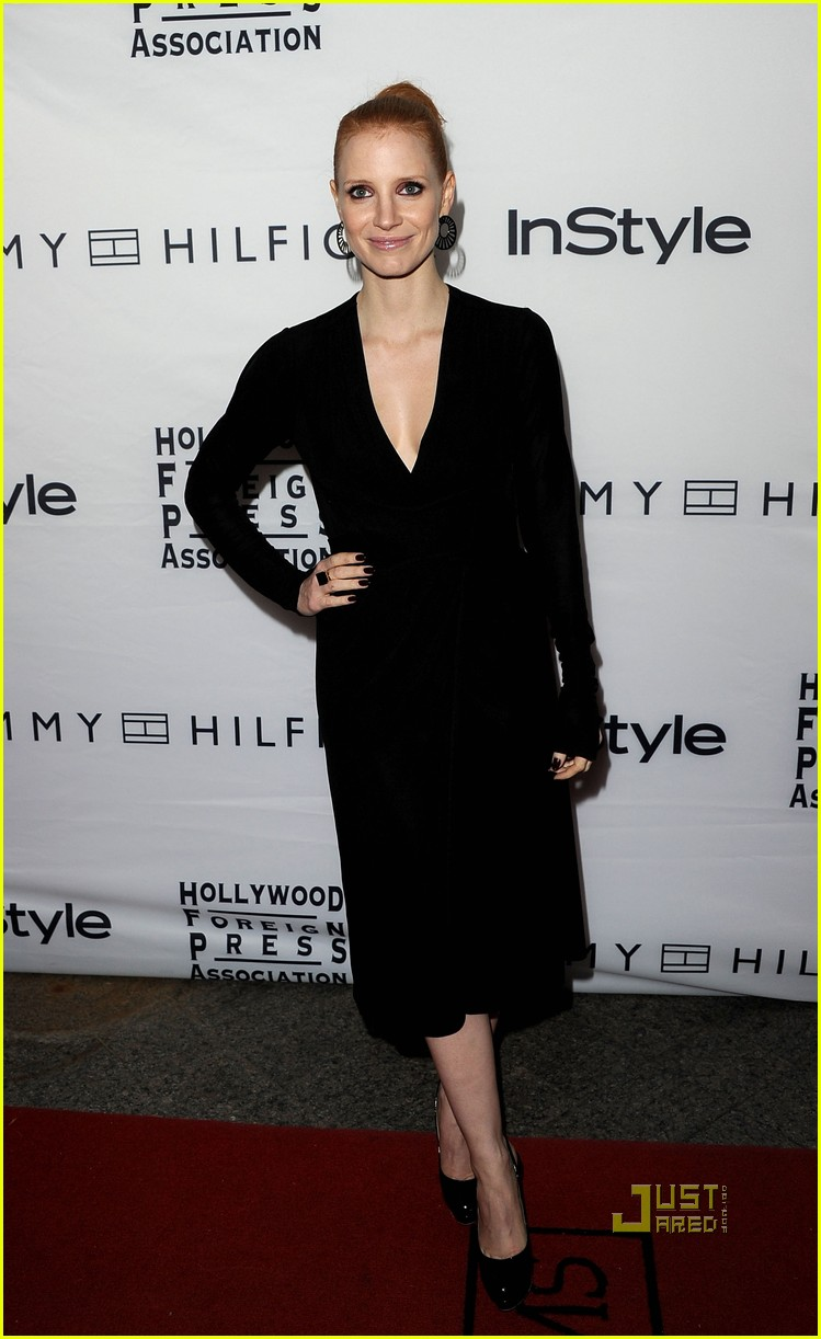 jessica chastain instyle hfpa event 072580358