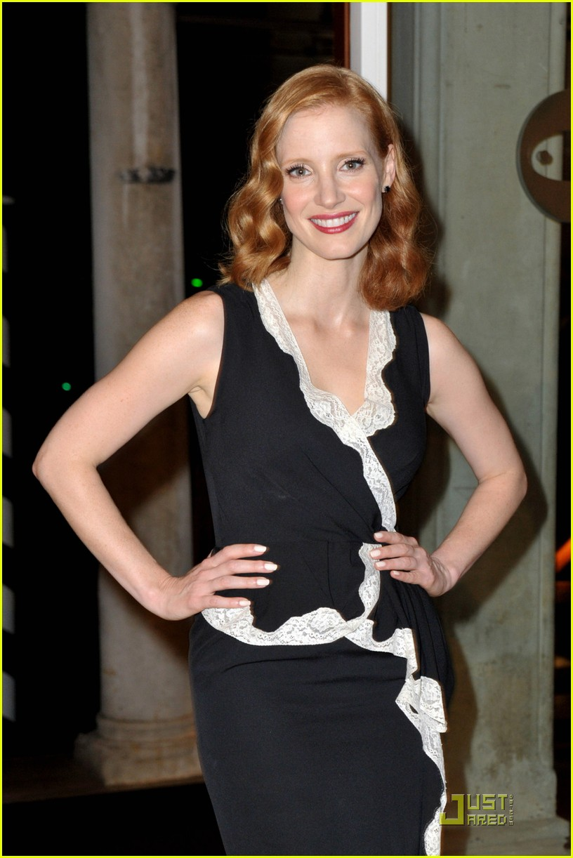 jessica chastain al pacino party 03
