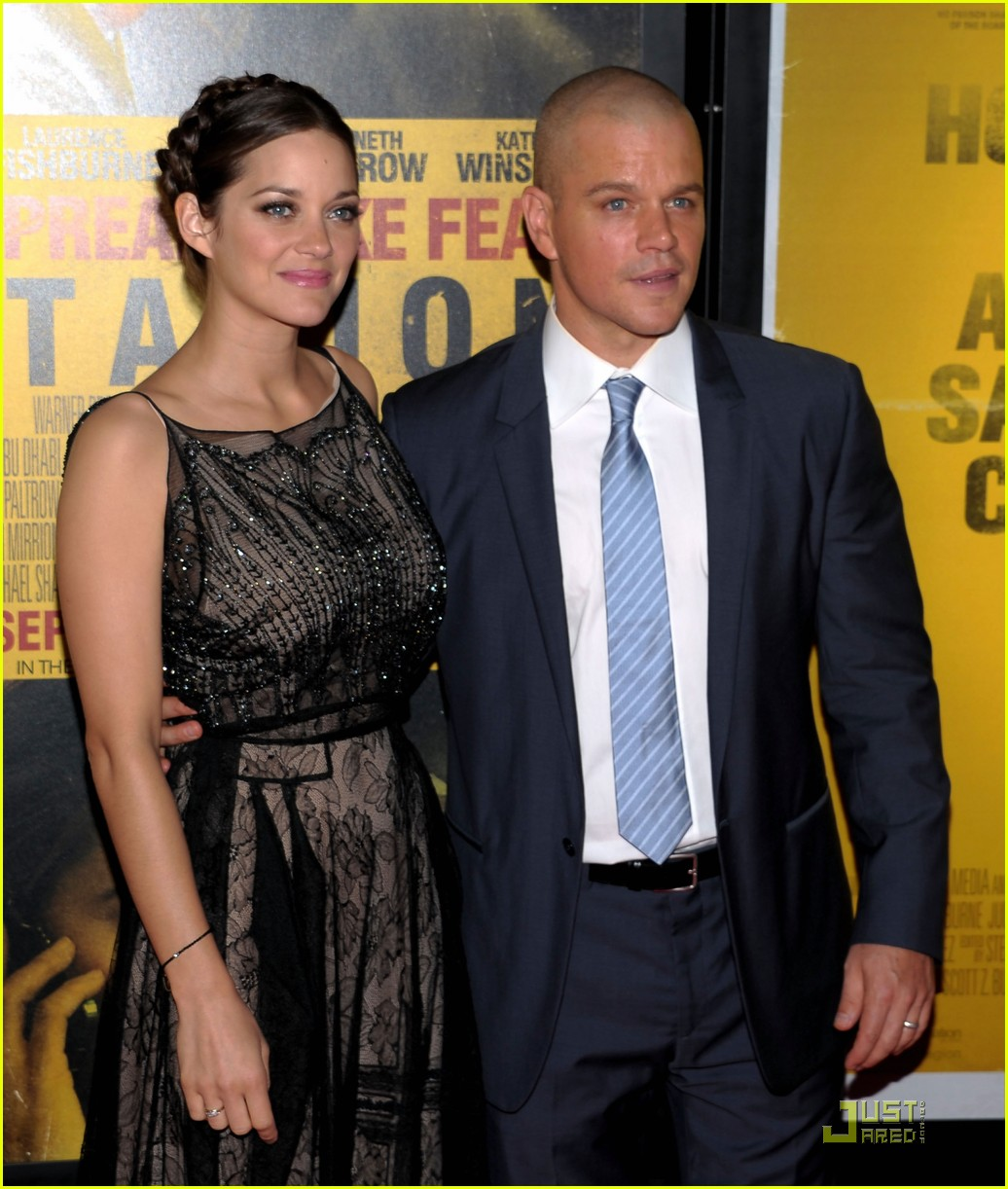 marion cotillard contagion premiere matt damon 19