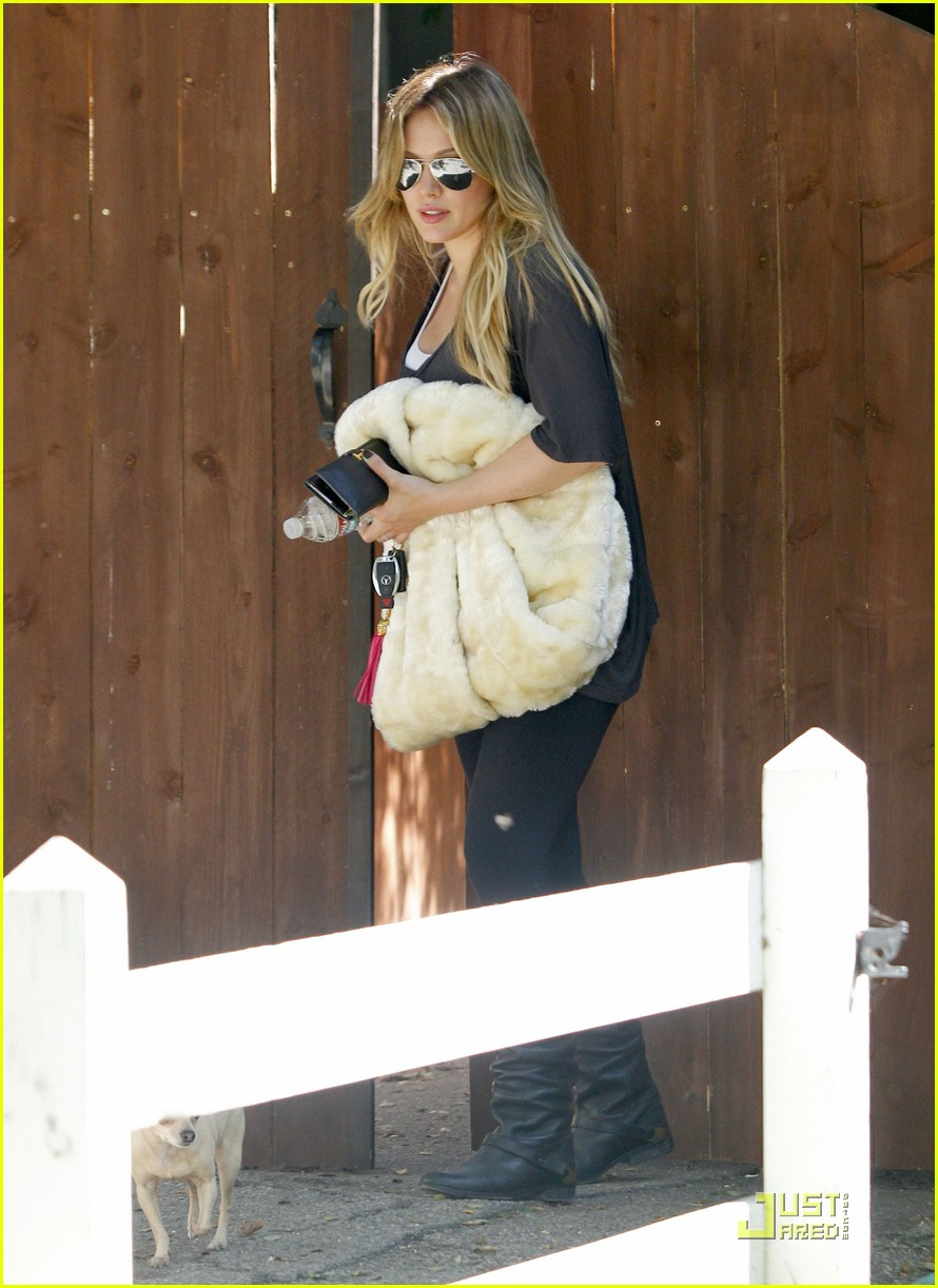 hilary duff spin class day 122575406
