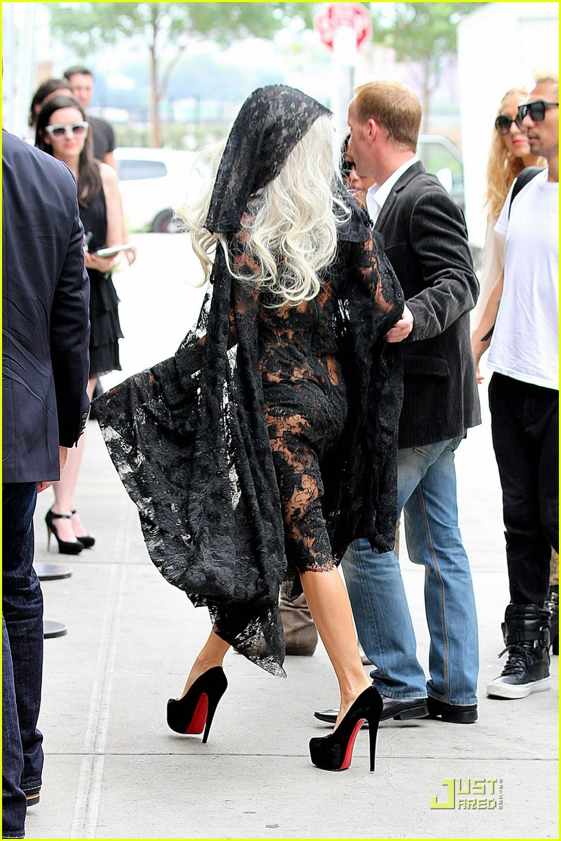 lady gaga lacy sheer dress 02