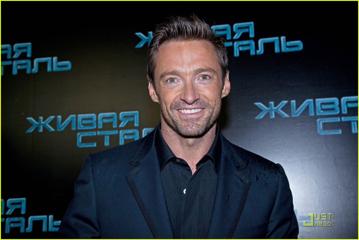 hugh jackman real steel moscow premiere 032577922