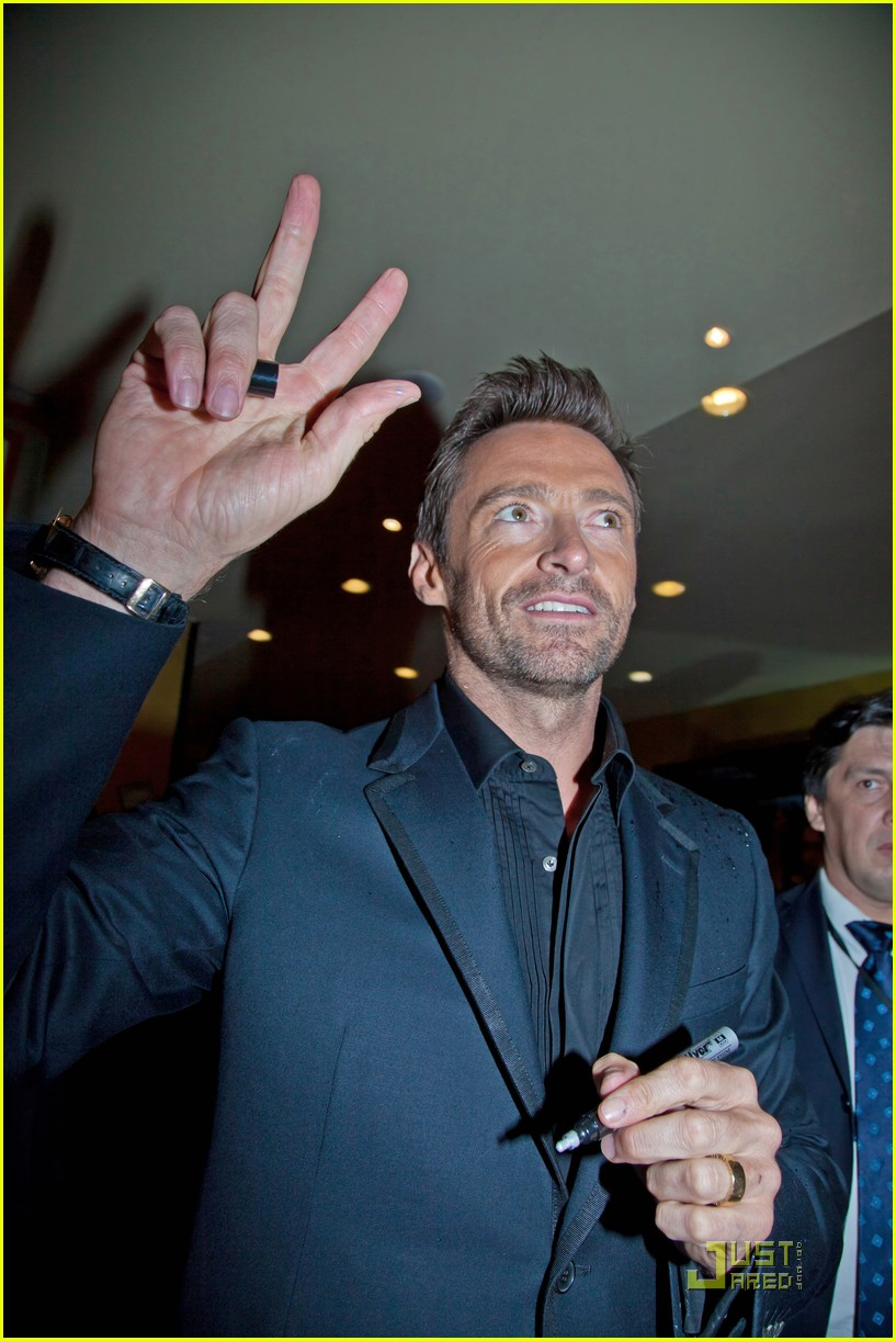 hugh jackman real steel moscow premiere 05