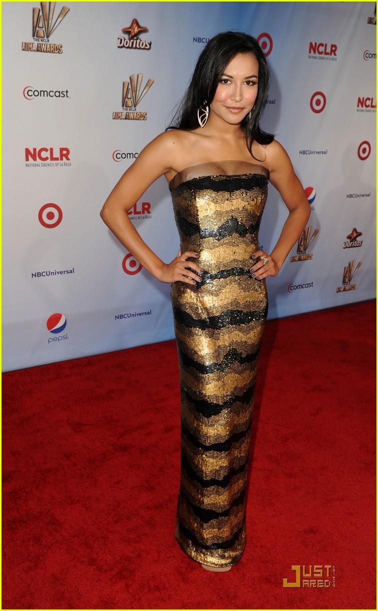 demi lovato naya rivera alma awards 2011 red carpet 062578728