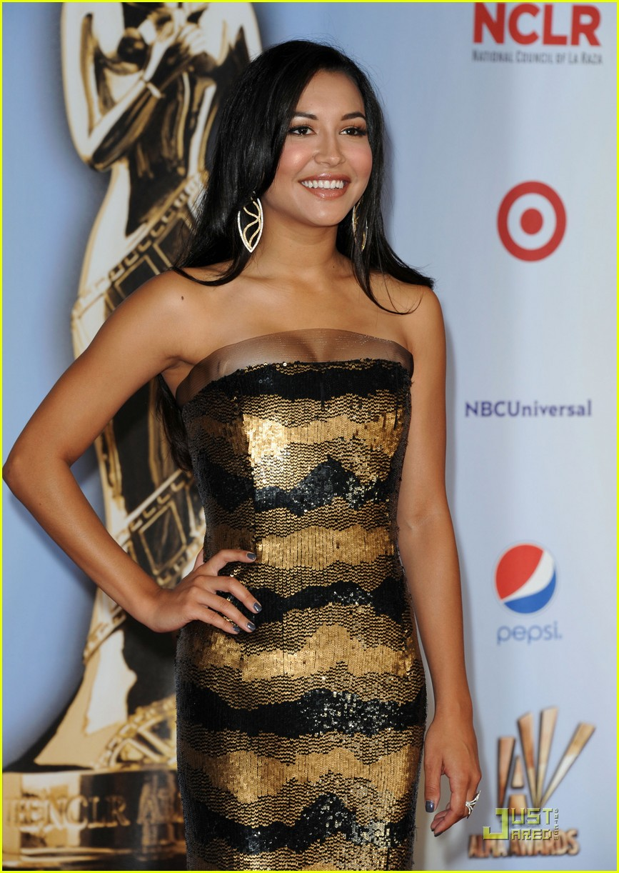 demi lovato naya rivera alma awards 2011 red carpet 112578733