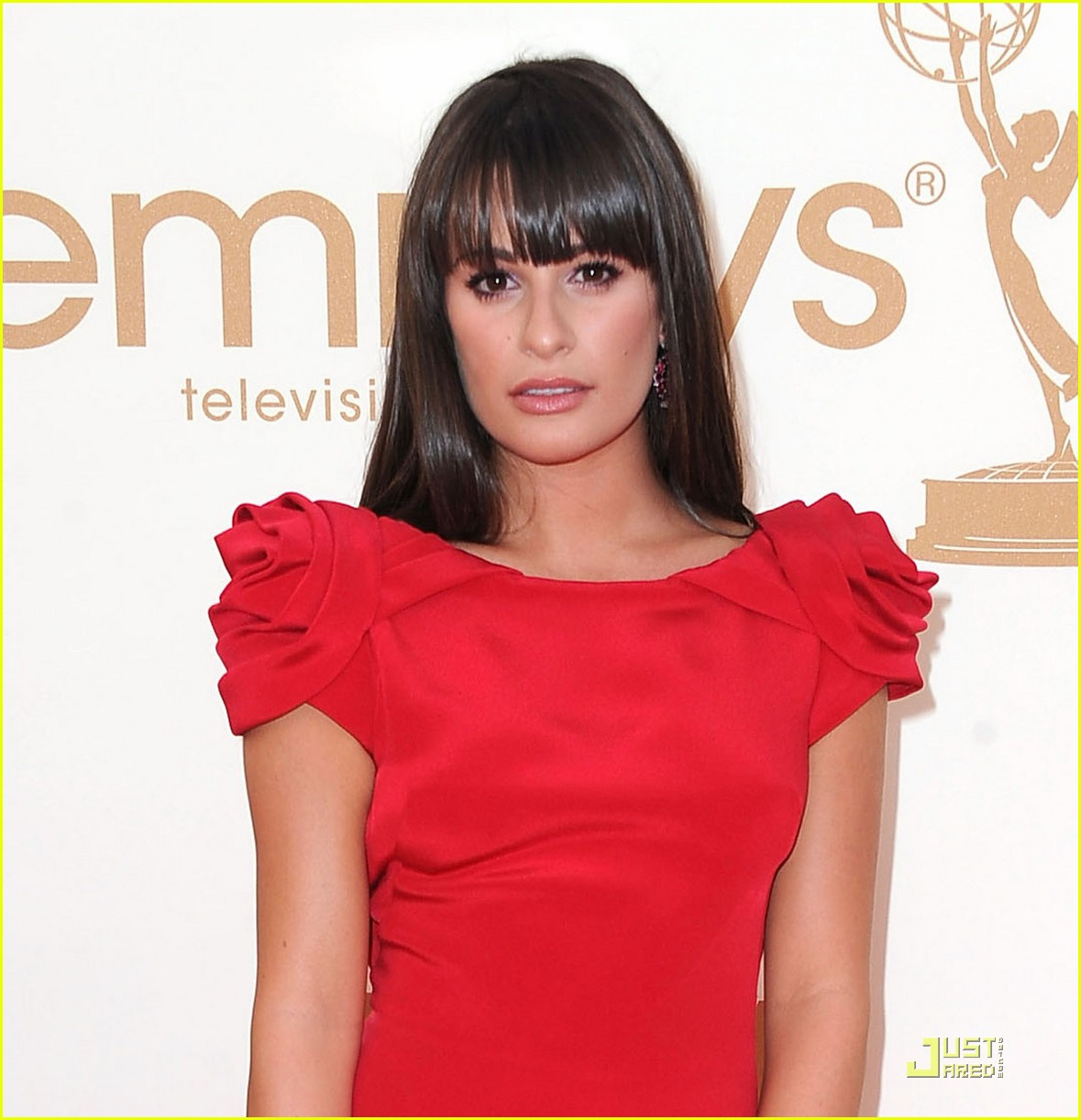lea michele emmys 2011 red carpet 022581513