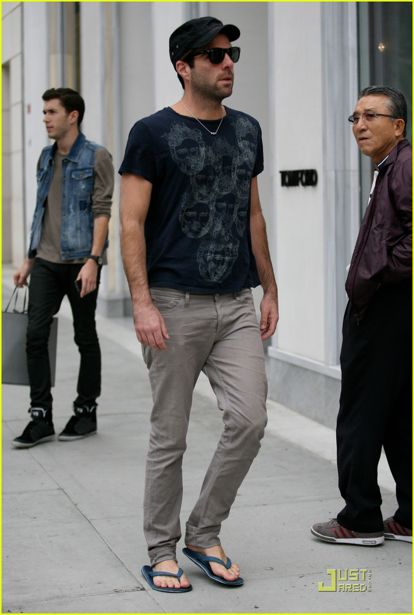 zachary quinto emmys party jewelry shopping 072581170