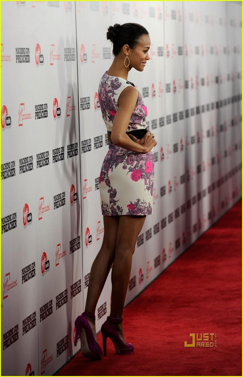 Zoe Saldana: 'Machine Gun Preacher' Premiere! Zoe Saldana