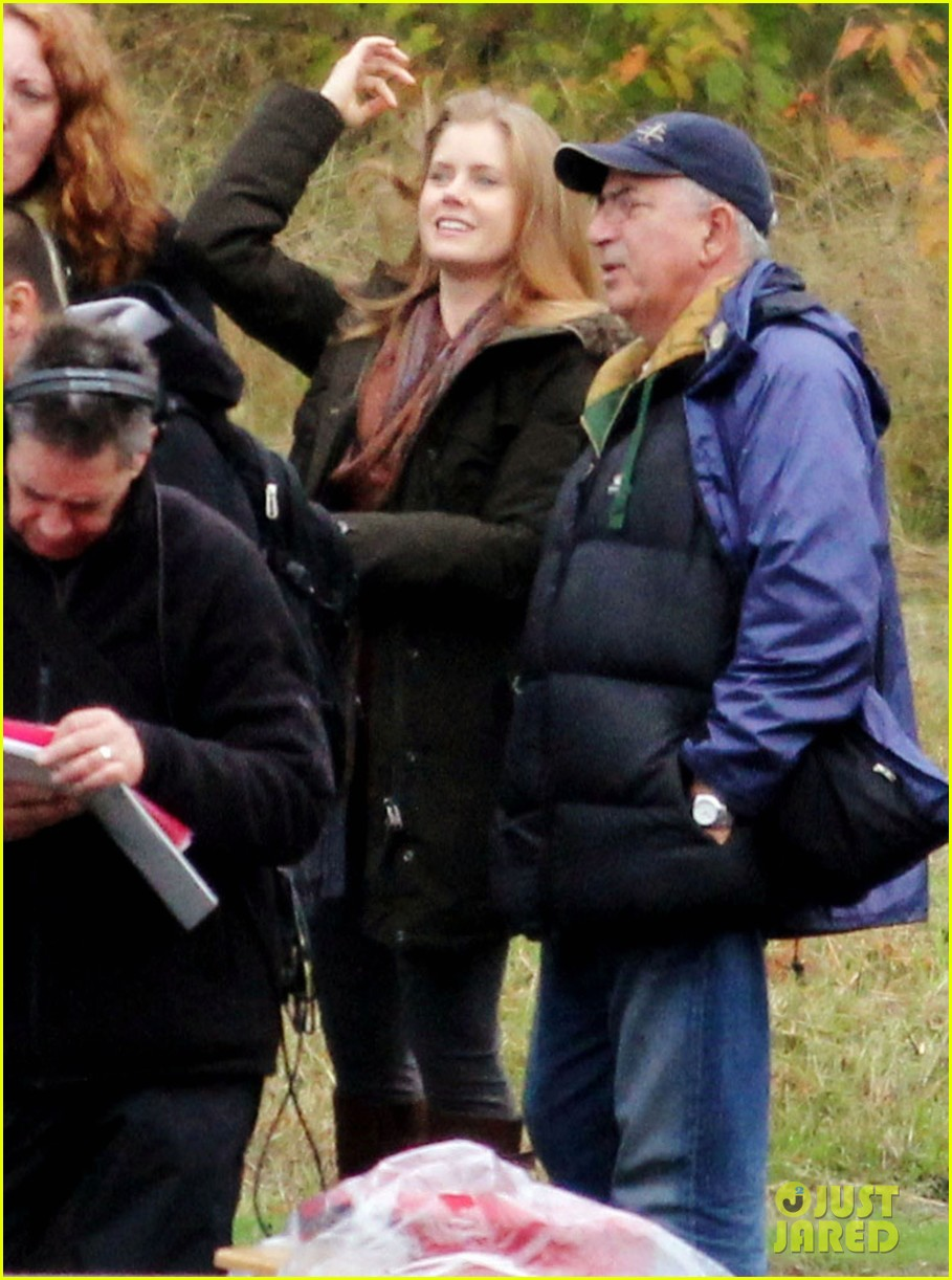 amy adams on set of man of steel 01