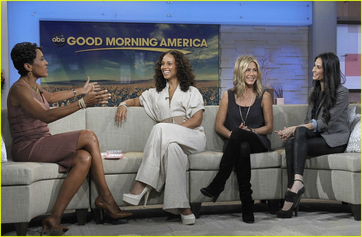 jennifer aniston demi moore alicia keys gma 04